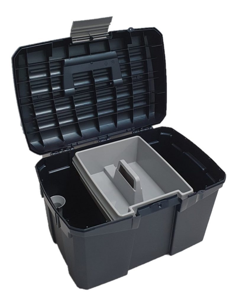 Stackable Horse Grooming Box With Removable Tray