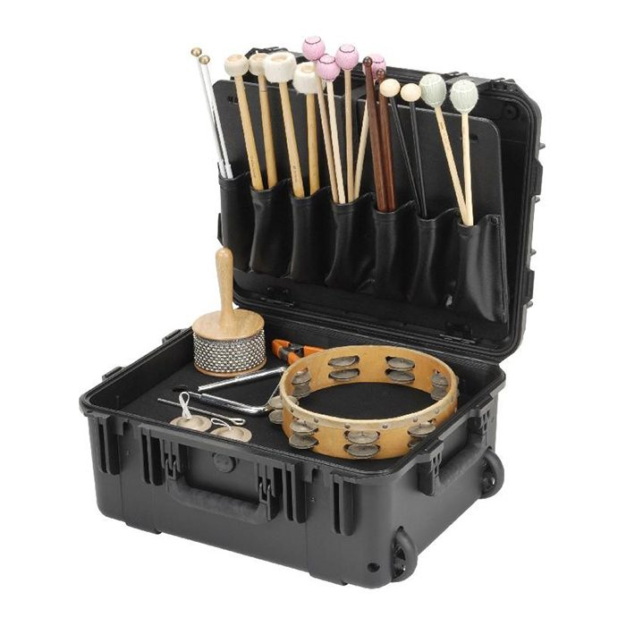 SKB Percussion/mallet Case with mallet holsters and trap table