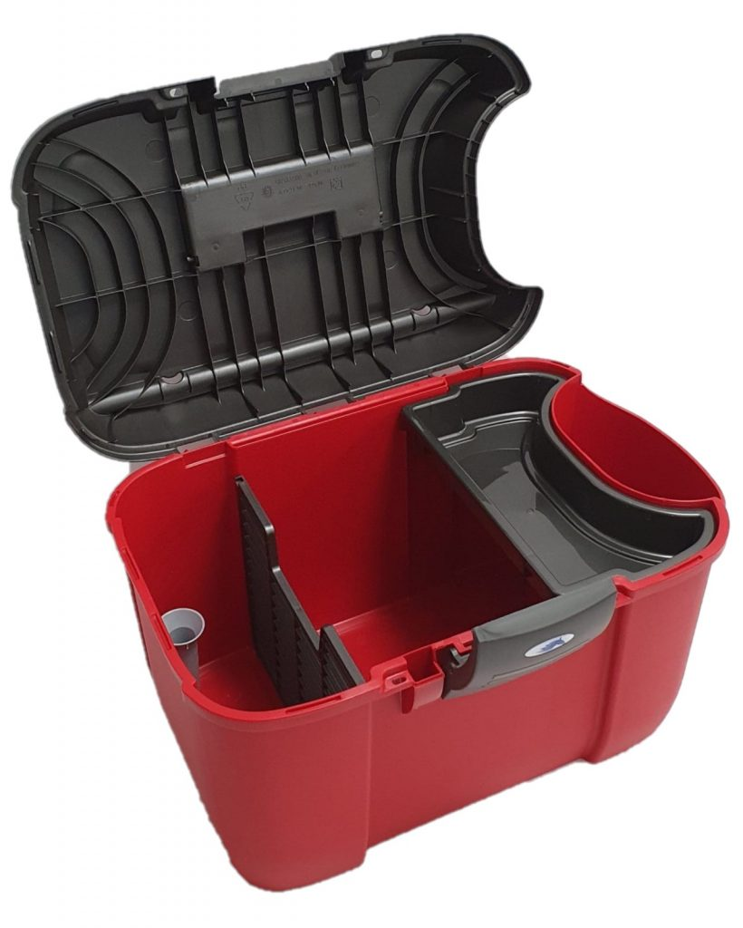 Horse Grooming Tack Box With Side Compartment